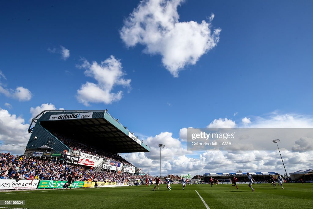 General view of the match during the Sky Bet League One match between Bristol Rovers and Shrewsbury Town at Memorial Stadium on April 1, 2017 in Bristol, England.