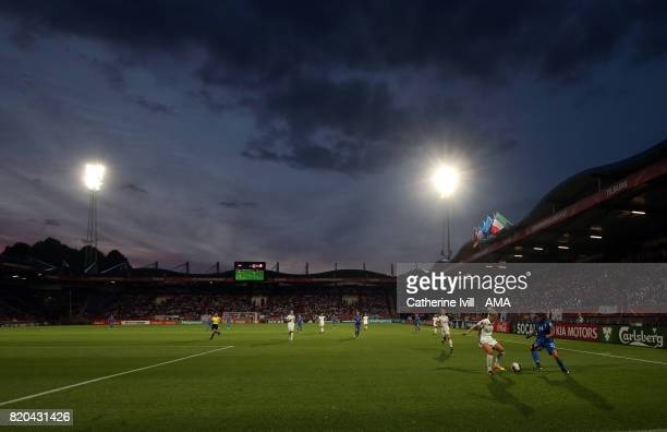 General view of the match during the UEFA Women's Euro 2017 match between Germany and Italy at Koning Willem II Stadium on July 21 2017 in Tilburg...