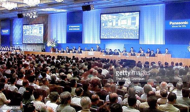 A general view of the Matsushita Electric Industrial Co's shareholders meeting on June 28 2006 in Osaka Japan