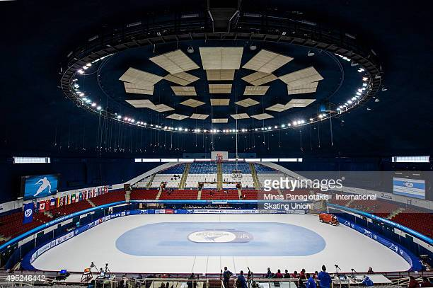 General view of the MauriceRichard Arena on Day 2 of the ISU World Cup Short Track Speed Skating competition on November 1 2015 in Montreal Quebec...