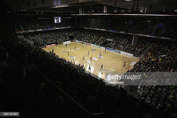General view of the MaxSchmelingHalle during the Toyota handball Bundesliga match between Fuechse Berlin and TV Grosswallstadt on October 10 2010 in...