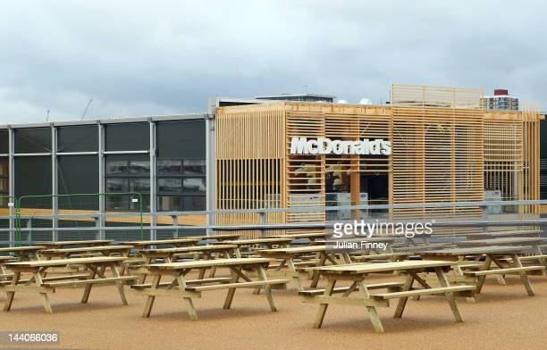 A general view of the McDonalds restaurant inside the Olympic Park during the Sainsbury's 2012 UK School Games at the Olympic Stadium on May 9 2012...