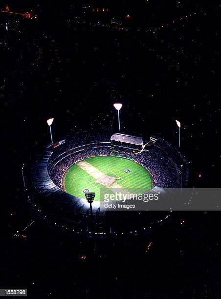 General view of the MCG at night Mandatory Credit Allsport Australia/ALLSPORT