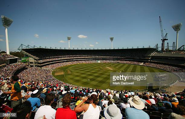 A general view of the MCG during day one of the Boxing Day 3rd Test between Australia and India at the MCG on December 26 2003 in Melbourne Australia