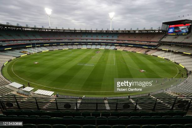 General view of the MCG prior to the round 1 AFL match between the Richmond Tigers and the Carlton Blues at Melbourne Cricket Ground on March 19,...