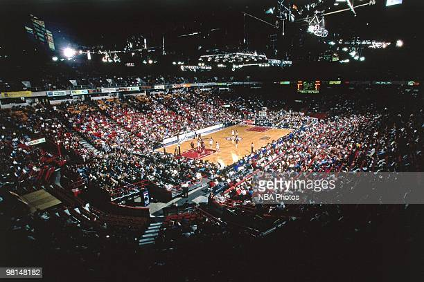 A general view of the McNichols Arena during a NBA game played in 1999 in Denver Colorado NOTE TO USER User expressly acknowledges and agrees that by...