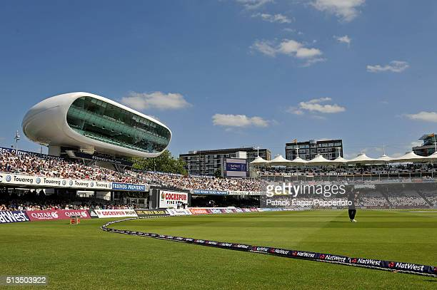 General view of the Media Centre at Lord's during the NatWest Series One Day International between England and New Zealand at Lord's London 28th June...