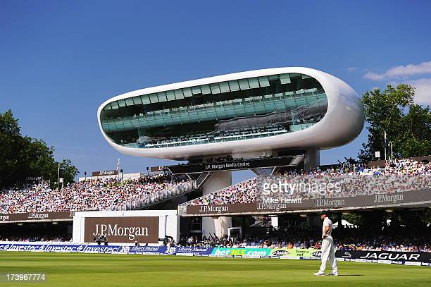 A general view of the media centre during day one of the 2nd Investec Ashes Test match between England and Australia at Lord's Cricket Ground on July...