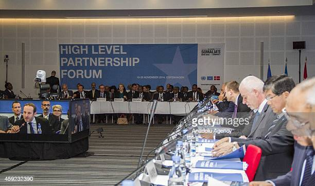 A general view of the meeting room during The High Level Partnership Forum Copenhagen which aims to maintain the momentum in the political transition...