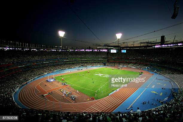 A general view of the Melbourne Cricket Ground during the athletics events on day ten of the Melbourne 2006 Commonwealth Games on March 25 2006 in...
