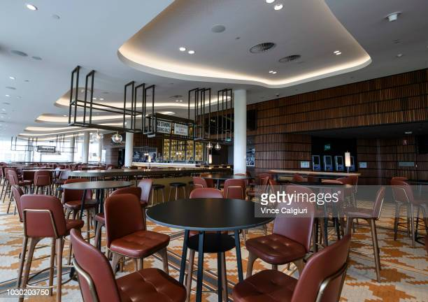 General view of The Members Bar during a media preview of the new Club Stand at Flemington Racecourse on September 10 2018 in Melbourne Australia The...
