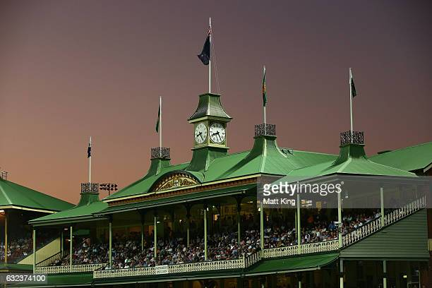 A general view of the members stand during game four of the One Day International series between Australia and Pakistan at Sydney Cricket Ground on...