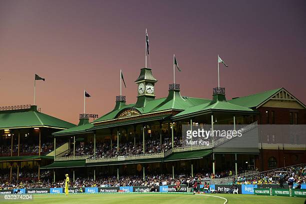General view of the members stand during game four of the One Day International series between Australia and Pakistan at Sydney Cricket Ground on...