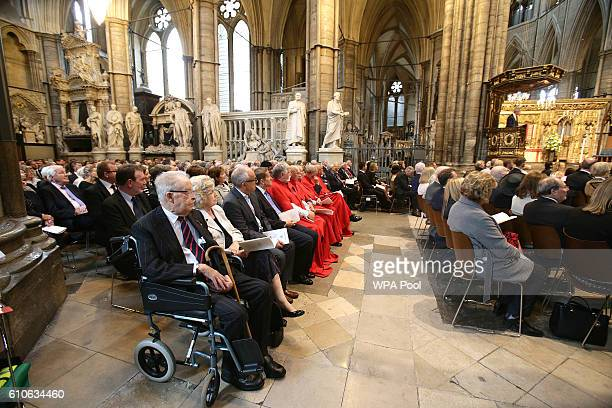 A general view of the memorial service for the late Sir Terry Wogan at Westminster Abbey on September 27 2016 in London England