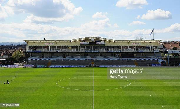 General view of the Memorial Stadium during the Sky Bet League Two match between Bristol Rovers and Exeter City at the Memorial Stadium on April 23...