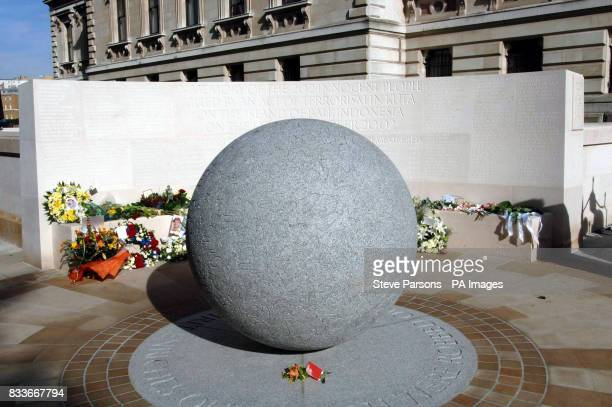A general view of the memorial to those who died in the Bali bombings four years ago on Clive Steps at Horse Guards Road London which was unveiled by...