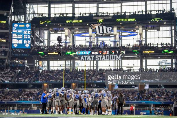 A general view of the Memphis Tigers during the Goodyear Cotton Bowl Classic at ATT Stadium on December 28 2019 in Arlington Texas