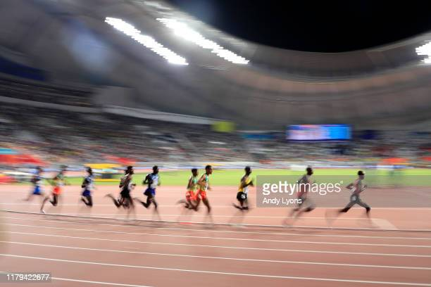 A general view of the Men's 10000 metres final during day ten of 17th IAAF World Athletics Championships Doha 2019 at Khalifa International Stadium...