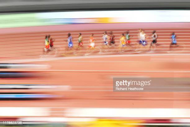 General view of the Men's 1500 Metres heats during day seven of 17th IAAF World Athletics Championships Doha 2019 at Khalifa International Stadium on...