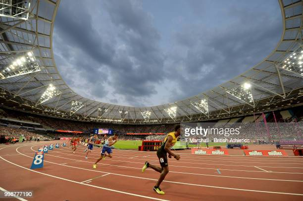 General view of the Men's 200m during day one of the Athletics World Cup London at the London Stadium on July 14, 2018 in London, England.