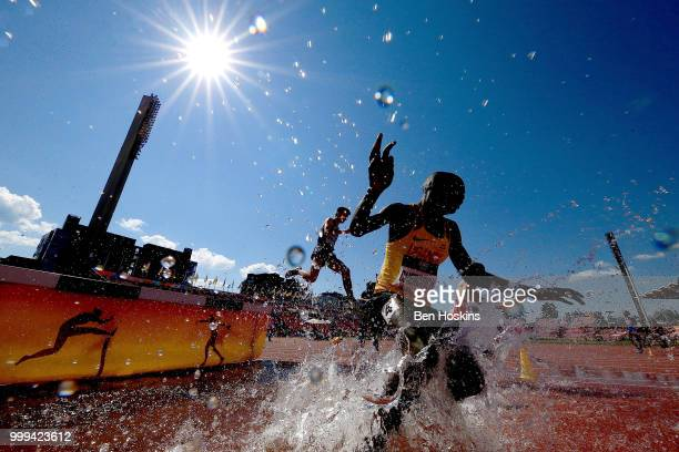 A general view of the men's 3000m steeplechase on day six of The IAAF World U20 Championships on July 15 2018 in Tampere Finland