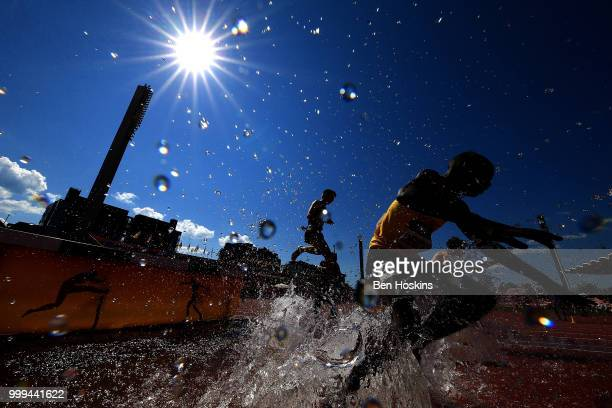 General view of the men's 3000m steeplechase on day six of The IAAF World U20 Championships on July 15, 2018 in Tampere, Finland.