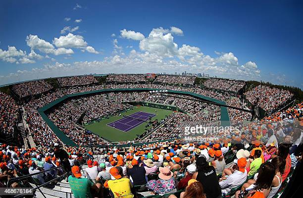General view of the Men's Final of the Miami Open presented by Itau between Novak Djokovic of Serbia and Andy Murray of Great Brittain at Crandon...