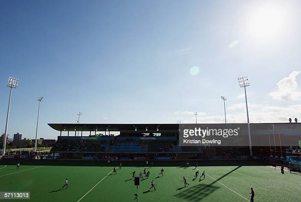 General view of the Men's Hockey match between the Republic of South Africa and Trinidad during day 2 of the Melbourne 2006 Commonwealth Games at the...
