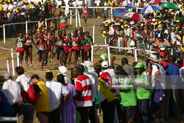A general view of the men's Junior race at the IAAF World Cross Country Championships in Mombasa Kenya on March 24 2007 in Mombasa Kenya