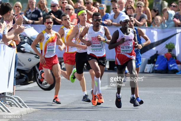 general view of the Mens Marathon final during day six of the 24th European athleteics Championships at Olympiastadion on August 12 2018 in Berlin...