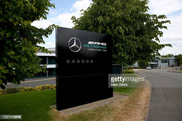 General view of the Mercedes AMG Petronas F1 team headquarters on May 27, 2020 in Brackley, United Kingdom. The British government continues to ease...