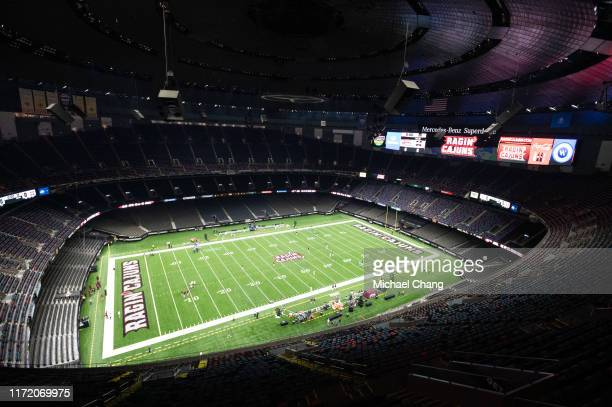 General view of the Mercedes Benz Superdome prior to the NCAA match between the Louisiana Ragin Cajuns and the Mississippi State Bulldogs on August...