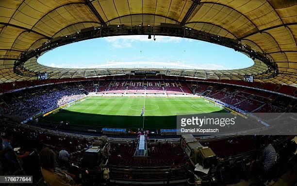 General view of the MercedesBenz Arena prior to the Bundesliga match between VfB Stuttgart and Bayer Leverkusen at MercedesBenz Arena on August 17...