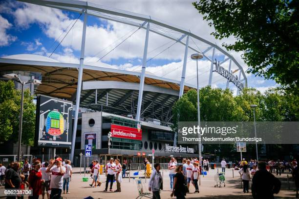 General view of the MercedesBenz Arena prior to the Second Bundesliga match between VfB Stuttgart and FC Wuerzburger Kickers at MercedesBenz Arena on...