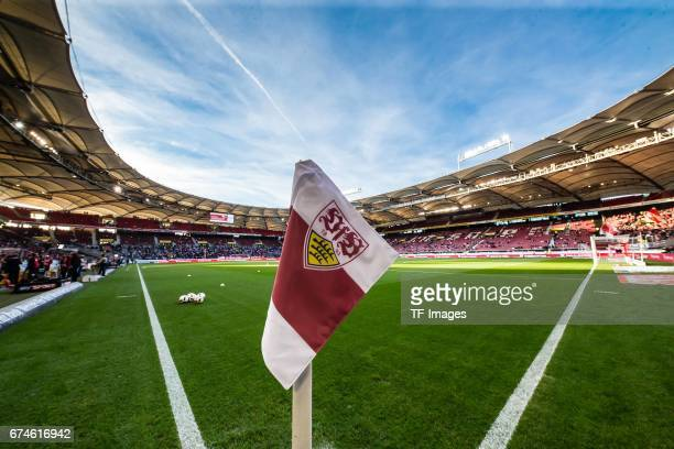 A general view of the MercedesBenz Arena / Stadion during the Second Bundesliga match between VfB Stuttgart and 1 FC Union Berlin at MercedesBenz...