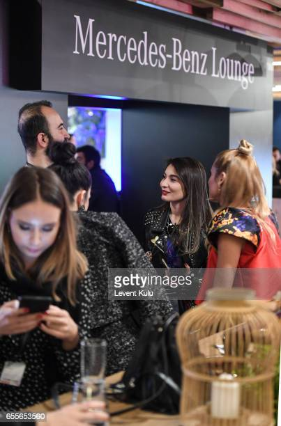 A general view of the MercedesBenz lounge during MercedesBenz Istanbul Fashion Week March 2017 at Grand Pera on March 20 2017 in Istanbul Turkey