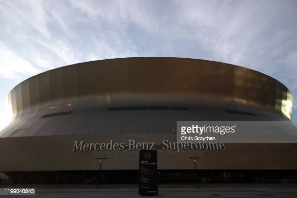 General view of the Mercedes-Benz Superdome as New Orleans prepares for the College Football Playoff National Championship on January 11, 2020 in New...