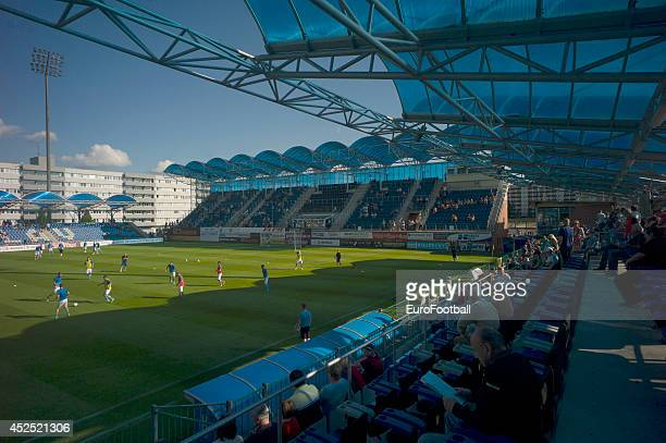 A general view of the Mestsky Stadion before the Gambrinus Liga match between FK Mlada Boleslav and AC Sparta Prague at the Mestsky Stadion on May 25...