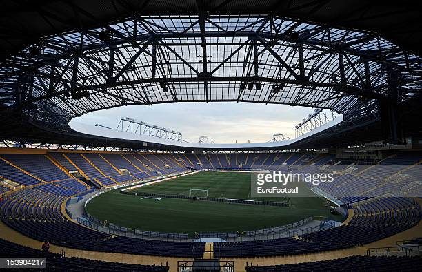 General view of the Metalist Stadium, home of FC Metalist Kharkiv taken during the UEFA Europa League group stage match between FC Metalist Kharkiv...