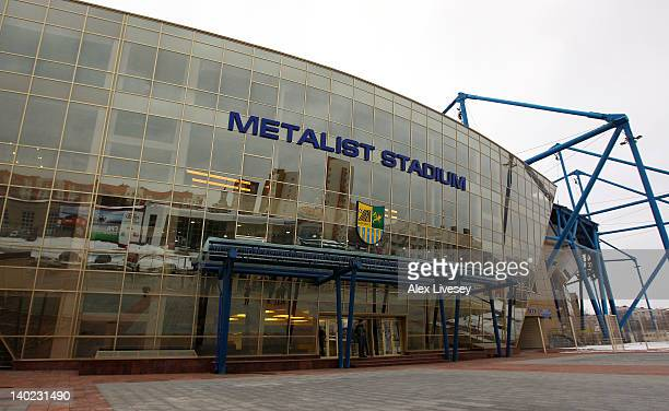 General view of the Metalist Stadium the home ground of FC Metalist is seen on February 29, 2012 in Kharkiv, Ukraine.
