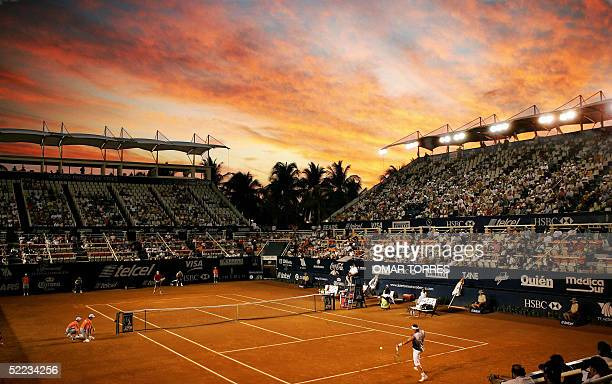 General view of the Mexican Open's stadium during the second round tennis match between Spanish Rafael Nadal and his countryman Santiago Ventura, 23...