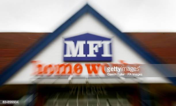 BURST A general view of the MFI Store in Ashford Kent as the company has called in administrators