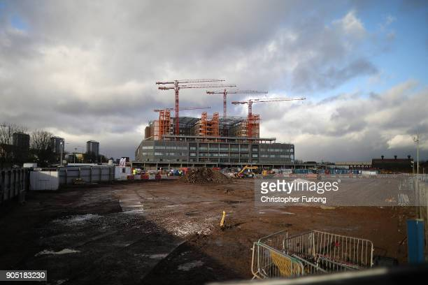 A general view of the Midland Metropolitan Hospital in Smethwick which is being built by construction company Carillion on January 15 2018 in...