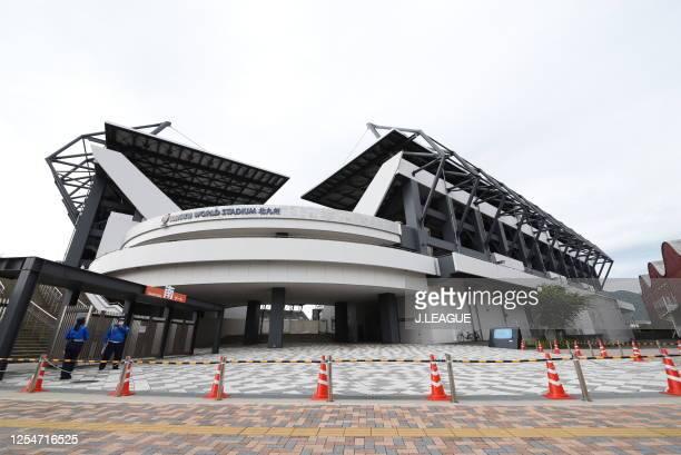 General view of the MIKUNI WORLD STADIUM KITAKYUSHU during the J.League Meiji Yasuda J2 match between Giravanz Kitakyushu and FC Ryukyu at Mikuni...