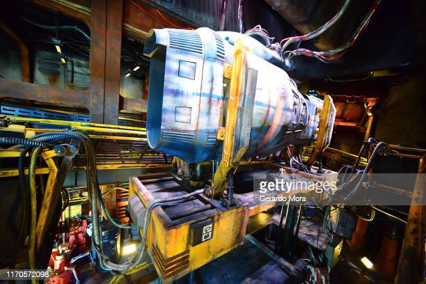 General view of the Millennium Falcon Smugglers Run ride at the Star Wars Galaxy's Edge Walt Disney World Resort Opening at Disney's Hollywood...