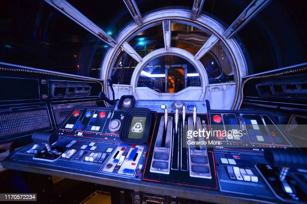 General view of the Millennium Falcon: Smugglers Run ride at the Star Wars: Galaxy's Edge Walt Disney World Resort Opening at Disney's Hollywood...