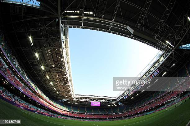 General view of the Millennium Stadium prior to the Men's Football Bronze medal playoff match between Korea and Japan on Day 14 of the London 2012...