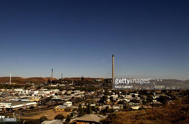 A general view of the mining town of Mount Isa Australia on August 7 2002 ahead of the weekends Mount Isa Rodeo The rodeo event held in the...