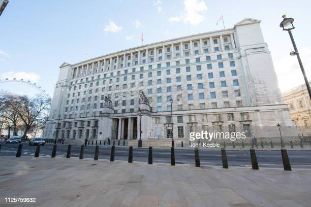 A general view of the Ministry of Defence building on Horse Guards Avenue on January 28 2019 in London England