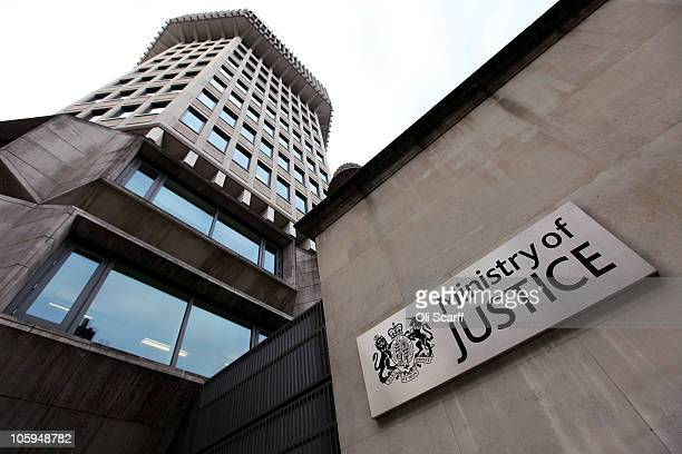 A general view of the Ministry of Justice building in Westminster on October 22 2010 in London England The Ministry of Justice is today publishing...